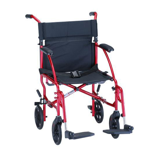 Transport Wheelchair Red